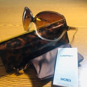 Tory Burch NWOT TY7030 Brown Ombré Fade Sunglasses